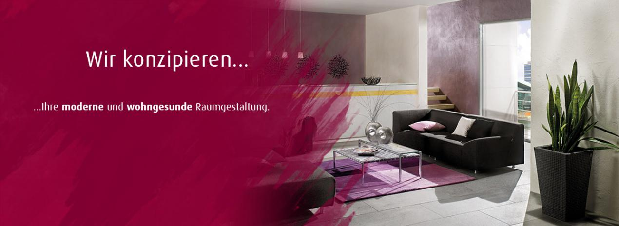 Wir konzipieren Ihre moderne und wohngesunde Raumgestaltung.