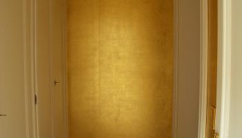 Goldtapete, vergoldete Wand, de Gournay